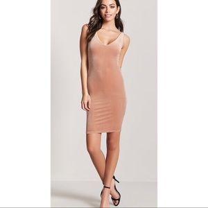 BRAND NEW Apricot Velvet Tank Dress